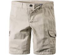 Herren Hose Shorts Baumwolle beige