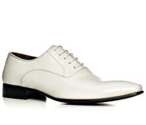 Herren Schnürschuhe Kalbleder weiß weiß,braun