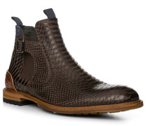 Herren Schuhe Chelsea-Boots, Kalbleder, braun