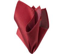 Herren Accessoires Einstecktuch Seide rot gemustert