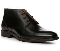 Herren Schuhe Schnürstiefelette Leder schwarz