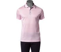 Herren Polo-Shirt Baumwoll-Jersey rosa