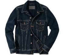 Herren Jacke Jeans dunkelblau