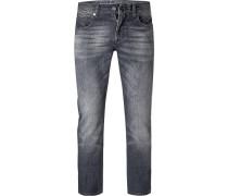 Jeans Slim Fit Baumwoll-Stretch graphit