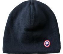 Herren Mütze, Merino Wolle, marine blau