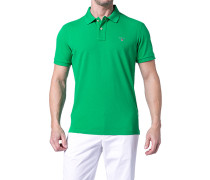 Herren Polo-Shirt Regular Fit Baumwoll-Piqué gras