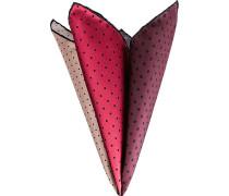 Herren Accessoires Einstecktuch, Seide, rot-schwarz gepunktet