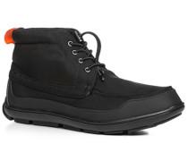 Herren Schuhe Schnürstiefeletten Nylon schwarz