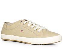 Herren Schuhe Sneaker, Fischgrat, beige