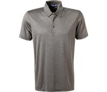 Polo-Shirt Seiden-Jersey  meliert