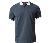 Herren Polo-Shirt Tailored Fit Baumwoll-Piqué dunkelblau