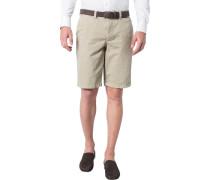 Herren Hose Bermudashorts Modern Fit Baumwolle beige