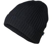 Herren Mütze, Wolle, schwarz