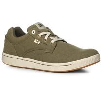 Herren Schuhe Sneaker, Textil, olivgrün