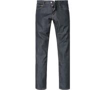 Herren Jeans Slim Fit Baumwoll-Mix 10 oz wasserabweisend dunkel