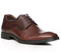 Herren Schuhe Schnürer, Leder, braun