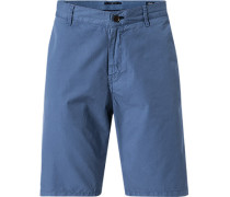 Herren Hose Bermudashorts, Modern Fit, Baumwolle, blau