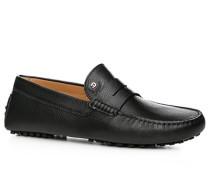 Herren Schuhe Mokassin, Kalbleder, schwarz