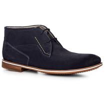 Herren Schuhe Desert Boots, Kalbveloursleder, nachtblau