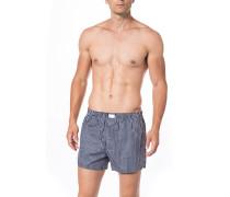 Herren Unterwäsche Boxershorts, Baumwolle, rauchblau gestreift