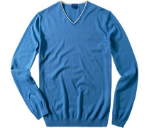 Herren Pullover Baumwolle bleu