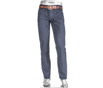 Herren Jeans Regular Slim Fit Baumwoll-Mix rauch