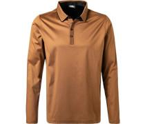 Polo-Shirt Baumwoll-Jersey caramel