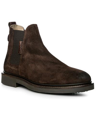 Schuhe Chelsea-Boots, Veloursleder geölt, dunkel