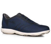 Herren Schuhe Sneaker, Textil, navy-schwarz blau