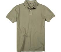 Herren Polo-Shirt Baumwolle khaki grün
