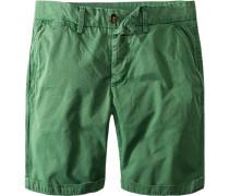 Herren Hose Bermudas Regular Fit Baumwolle grün