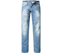 Herren Jeans Modern Fit Baumwoll-Stretch hell