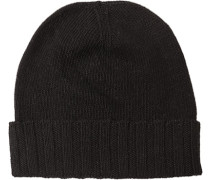 Herren   Mütze Material-Mix schwarz
