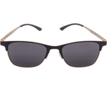 Herren Brillen adidas, Sonnenbrille, Metall, schwarz-antikgold