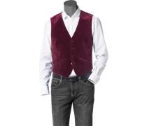 Herren Anzug Samt-Weste Baumwolle bordeaux rot