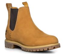 Schuhe Chelsea Boots Nubukleder mais