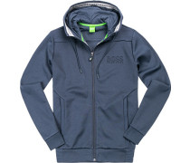 Herren Sweatjacke, Regular Fit, Baumwolle, navy blau