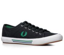 Herren Schuhe Sneaker Canvas navy blau,braun