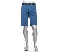 Herren Hose Bermudashorts Master, Modern Fit, 3xDry Cooler, saphirblau