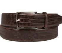 Herren Gürtel dunkelbraun, Breite ca. 3,5 cm