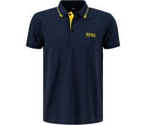 Polo-Shirt Regular Fit Baumwoll-Piqué navy