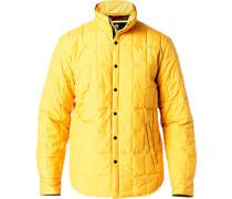 Herren Steppjacke, Microfaser wattiert, gelb