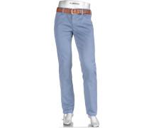 Herren Hose Chino Regular Slim Fit Baumwoll-Stretch blau