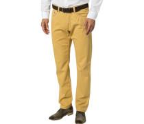 Herren Jeans, Regular Fit, Baumwoll-Stretch, gelb