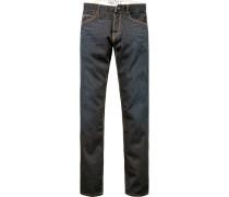 Herren Jeans, Regular Fit, Baumwolle 11 oz, indigo blau