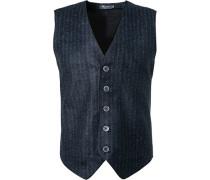 Pullover Strickweste, Wolle, dunkel gestreift