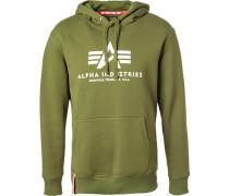 Herren Hoodie Baumwolle khaki grün