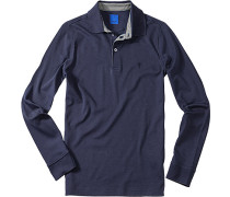 Herren Polo-Shirt Regular Fit Baumwoll-Jersey marineblau