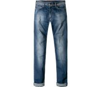 Herren Jeans Slim Fit Baumwoll-Stretch mittel