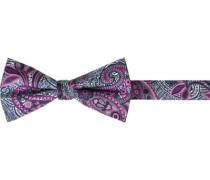 Herren Krawatte Schleife , Seide, rosa-navy paisley